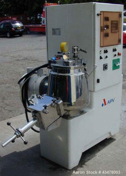 """Used-APV Lab Size Mixer-Granulator, 316 grade stainless steel product contact parts.  Mixing bowl 16.5"""" (420 mm) diameter x ..."""