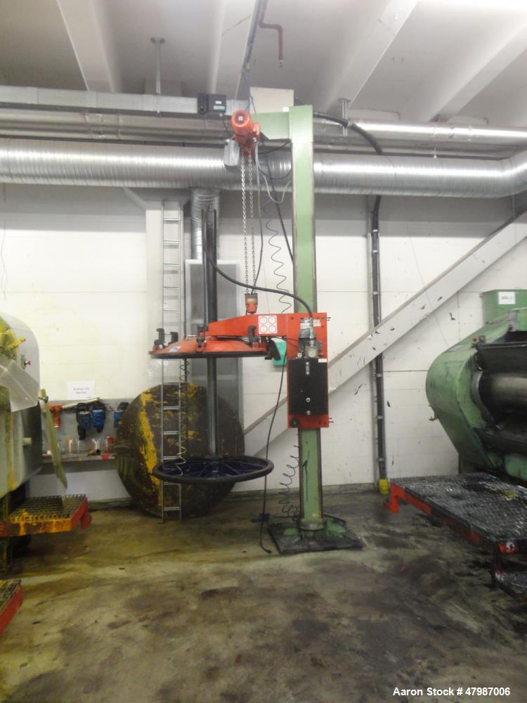 Used- Buhler Press-Out Unit, Removable Head Design, Type B 1100-K/SWF. Serial#10314683/5701, new 2000. The press out unit ha...
