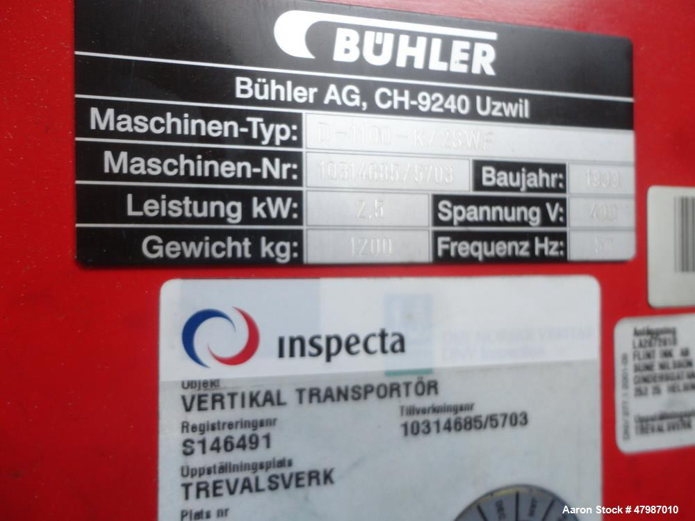 Used- Buhler Press-Out Unit, Type SOVE 1300, Serial# 10302073. This is a standard press out unit that accepts a 940mm diamet...
