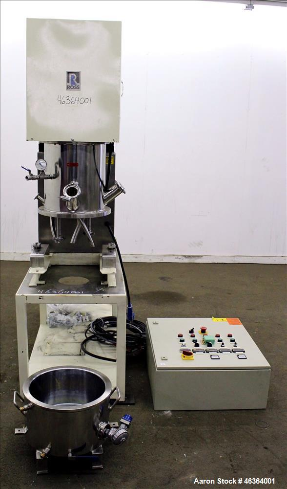Used- Ross Double Planetary Disperser Mixer, Type DPD-4, 304 Stainless Steel.