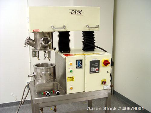 Used-Ross double planetary mixer, model DPM-1. High viscosity blades, HV blades rotate on their own axis and on a common axi...