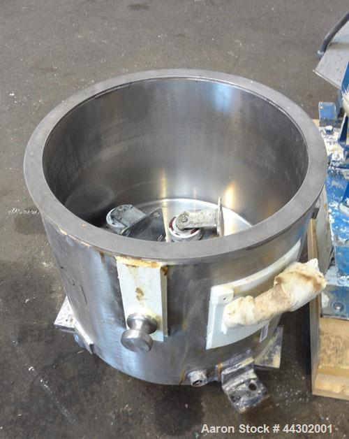 Used- Ross Double Planetary Mixer, Model HDM-10, 316 Stainless Steel. 2-12 Gallon working capacity, 15 gallon total. Orbital...