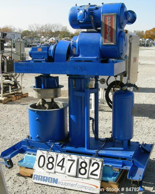 """Used- Ross Double Planetary Mixer, Model HDM10, Stainless Steel. 2-12 gallon working capacity, 15 gallon total. 18"""" diameter..."""