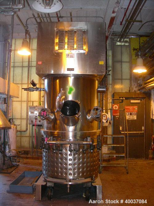 Used- Ross Double Planetary Vacuum Change Can Mixer, Model HDM200, 316L stainless steel. (2) 316L stainless steel stirrers, ...