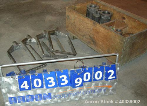 "Used- Ross HDM40 parts consisting of:  (4) approximately 13 1/2"" wide stirrers, 304 stainless steel, (1) gear housing, misc ..."