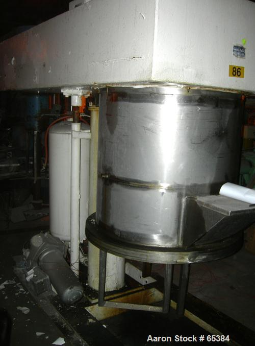 "Used- Ross Double Planetary Mixer, Model HDM75, 304 Stainless Steel. 10-75 Gallon working capacity. (2) 34-1/2"" Diameter x 2..."