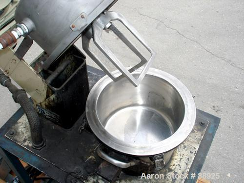 """Used- Ross Double Planetary Mixer, Model LDM-2, 304 Stainless Steel. 1 quart to 1.5 gallon working capacity, 2 total. 9-3/4""""..."""