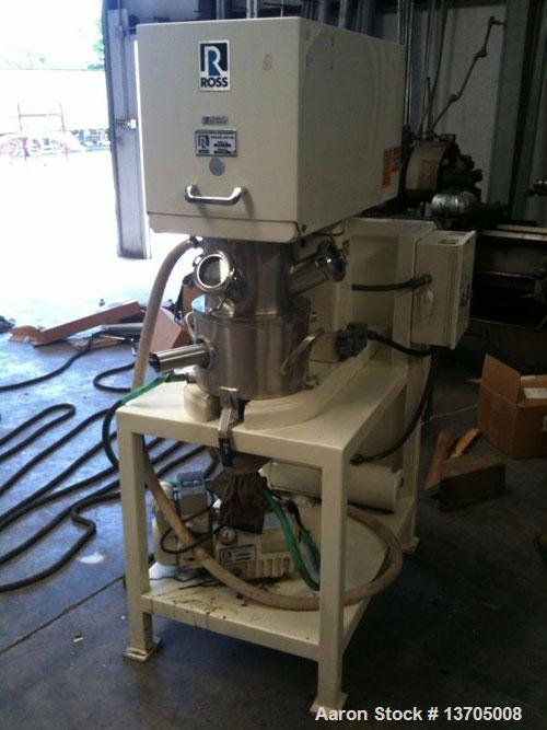 Used-Two (2) Gallon Ross PD-2 PowerMix. Vacuum, jacketed, sanitary stainless steel construction, 0.78 to 1.5 gallon mixing c...