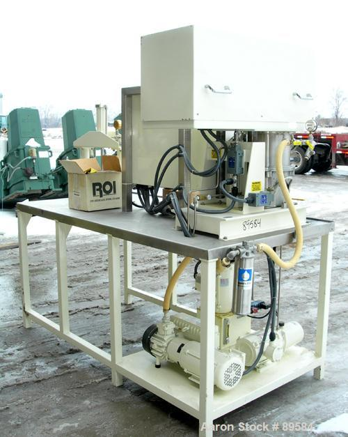 "USED: Ross planetary Powermix, model PD/DS-2, 304 stainless steel. 1-1/2 gallon working capacity, 2 total. 9-5/8"" diameter x..."