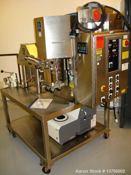 Unused-Used: Ross model PDM-1/2 power mix, sanitary stainless with discharge ram, 0.5 gallon. All sanitary stainless steel c...