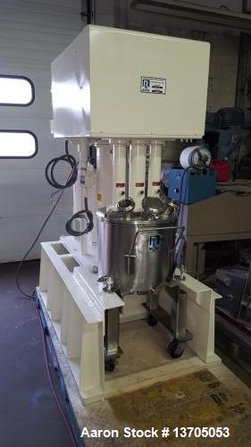 Used- Ross Model PVM-10 Versamix. Triple shaft design. Jacketed. Vacuum. 10 gallon working capacity. 15 gallon total capacit...