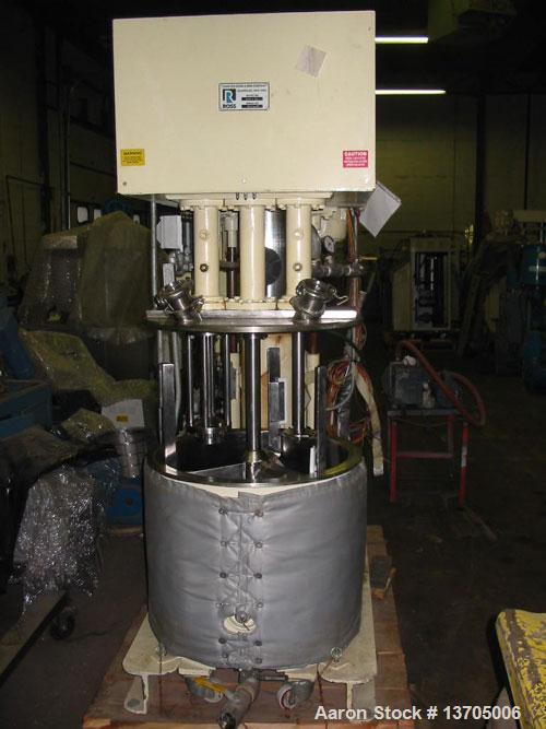 Used-40 Gallon Ross Versamix. Triple shaft, vacuum, jacketed, stainless steel Ross model PVM-40 Versamix. Triple shaft desig...