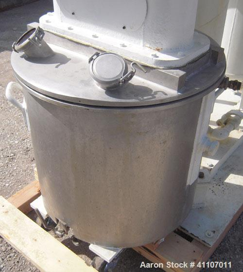 Used - Ross Versa Mixer, Model PVM-40E, 304 stainless steel. Change can design, triple agitation. (1) Anchor style agitator ...