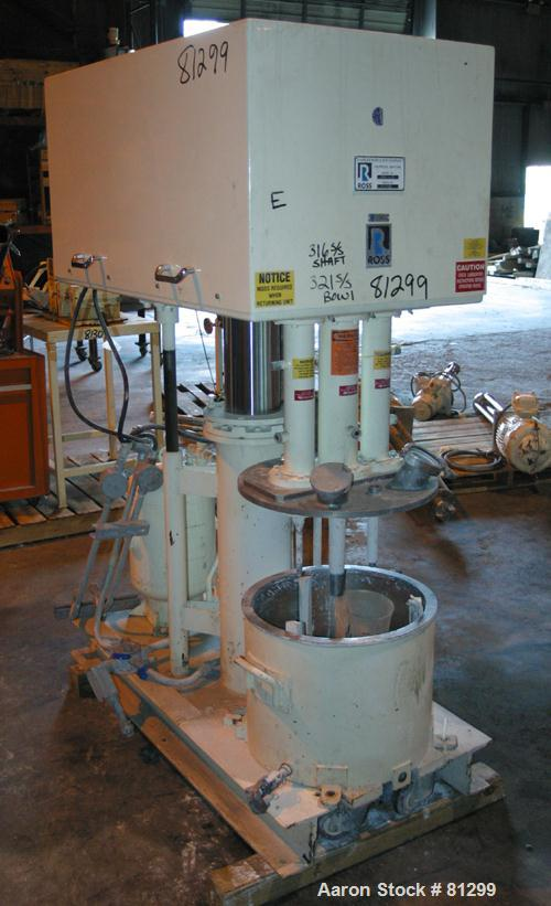 """USED: Ross Versa Mix model PVM-10. 10 gallon mixing capacity, 321 stainless steel, change can design. Triple agitation, 18"""" ..."""