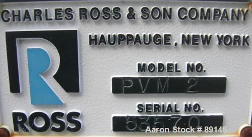 """USED: Ross Versa Mix, model PVM2, stainless steel. Change can design. Approximately 9-1/2"""" diameter x 9"""" deep jacketed can, ..."""
