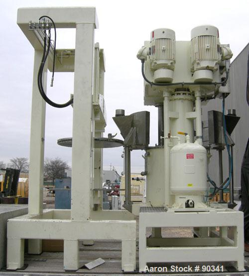 "USED- Ross Versa Mixer, Model PVM-100, 304 stainless steel.  Rated for full vacuum (29.5"" HG) and 5 psi air for discharge pu..."