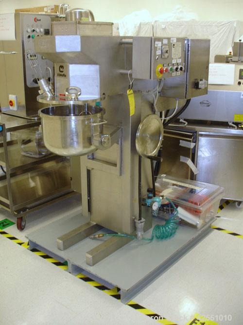 Used- Collette High Shear Mixer, Model GRAL 25. 25 Liter (6.6 gallon) stainless steel. Non-jacketed bowl, 5/3.3 hp main driv...