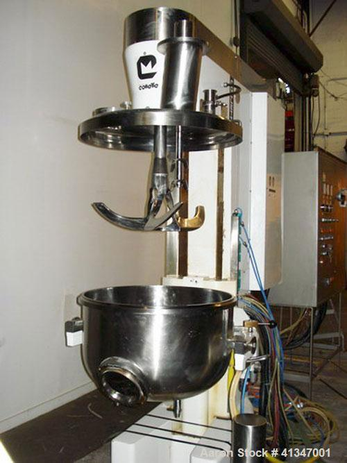 Used- Collette High Shear Granulator, 150 Liter, Model GRAL150. This is a standard GRAL granulation mill with top-entering 3...