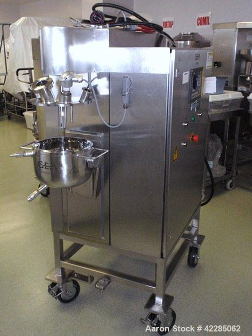Used- Collette High Shear Mixer, Model GRAL10. Stainless steel construction. 10 Liter jacketed bowl rated 2 bar, with main b...