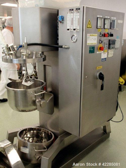Used- Collette High Shear Mixer, Model GRAL25. Stainless steel construction. (2) 25 Liter jacketed bowl with main blade and ...