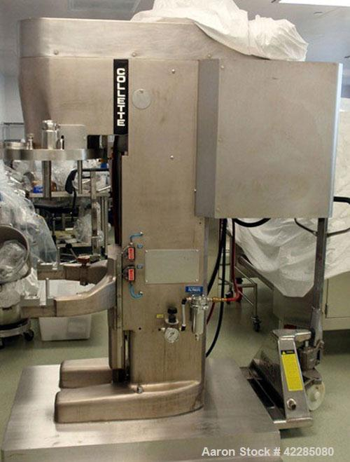 Used- Collette High Shear Mixer, Model GRAL75. Stainless steel construction. 75 Liter jacketed bowl with main blade and chop...