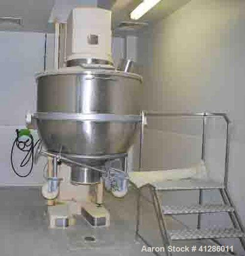 Used-Collette IMH 12000 Mixer, stainless steel 316 on product contact parts, capacity 79-238 gallons (300-900 liters).Equipp...