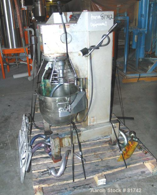 Used: Crypto Peerless Vertical Planetary Mixer, model EM40, 42 quart capacity