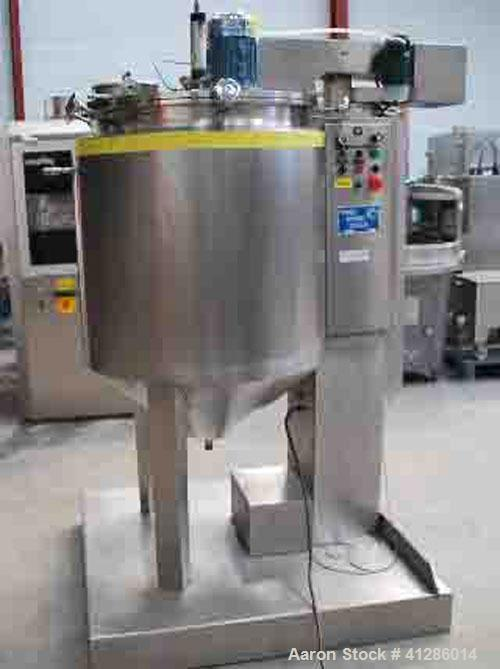 Used-Franco Montan 316 stainless steel, double jacketed, total volume 105 gallons (400 liters), working volume 26.5 - 73 gal...