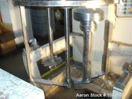 "Used-Fryma Model 400 Vacuum Mixer.  Includes (2) jacketed mixing tanks measuring 33.25"" diameter x 38"" deep.  Agitation has ..."