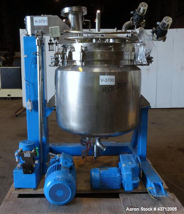 Used- Hellmich Reactor, 110 Gallon, 316 Stainless Steel, Vertical.
