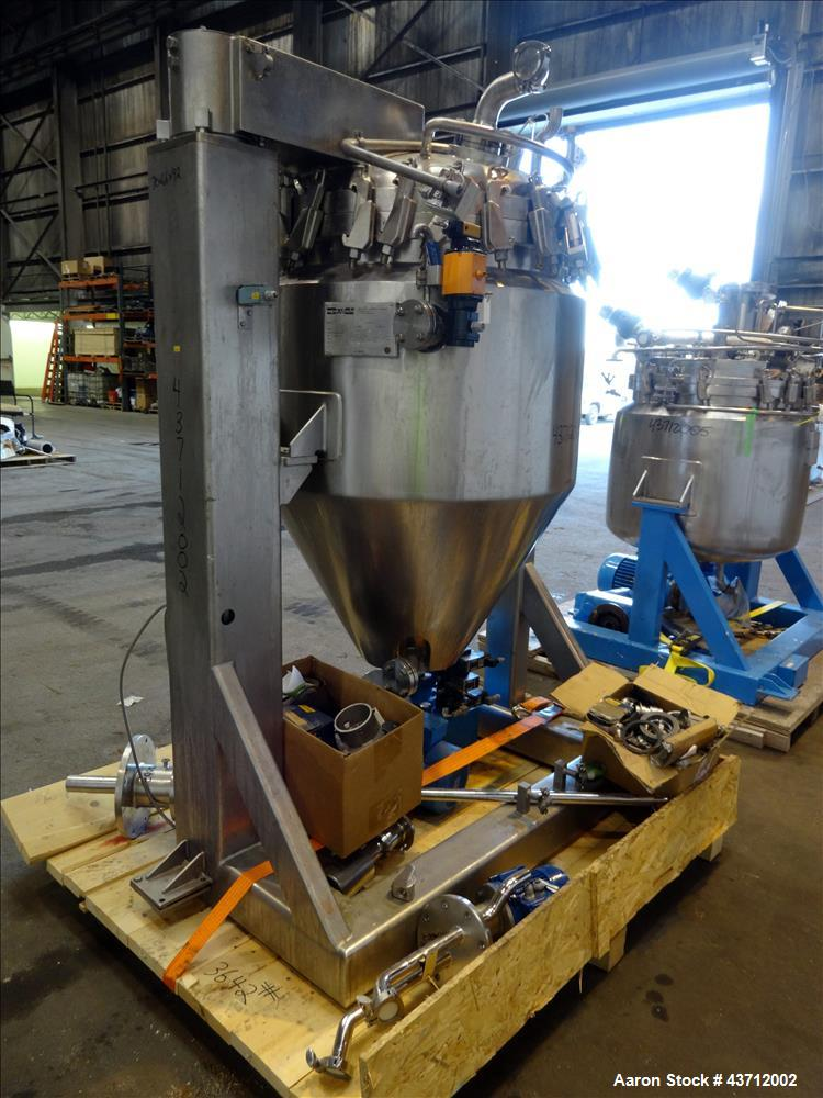 Used- Hellmich Reactor, 105 Gallon, 316 Stainless Steel, Vertical.