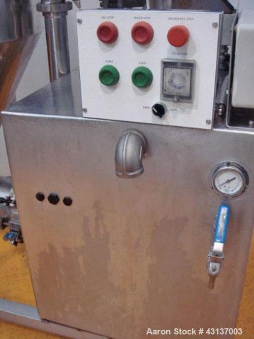 Used-Fryma MZ-200 Process Vessel/High Shear Mixer, stainless steel 316 on product contact parts, 66 gallon (250 liter) capac...