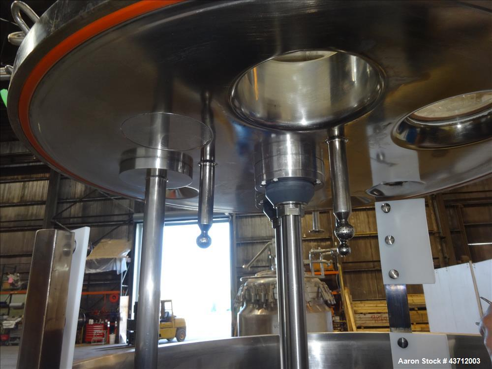 Used- Hellmich Reactor, 112 Gallon, 316 Stainless Steel, Vertical.