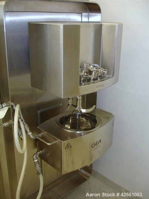 Used- GEA Aeromatic Collette Single Pot High Shear Mixer, Model ULTIMAGRAL 10. 10 Liter jacketed bowl with chopper and main ...