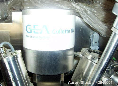 Used-GRAL (Collette) Model Gral 10, High Shear Mixer/ Granulator/ Dryer. 10 Liter/ 2.6 Gallon capacity.  Stainless steel.  s...