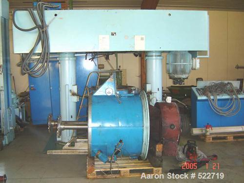 USED: Grieser planetary mixer, model VPLD. 158.7 gallon (600 liter) mixing capacity, stainless steel on product contact part...