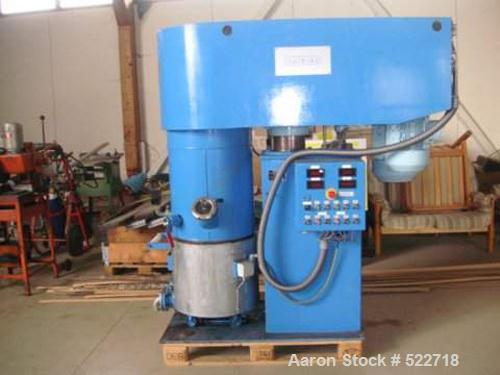 USED: Grieser planetary mixer, model VPLD70. 18 gallon (70 liter) mixing capacity, stainless steel on product contact parts....