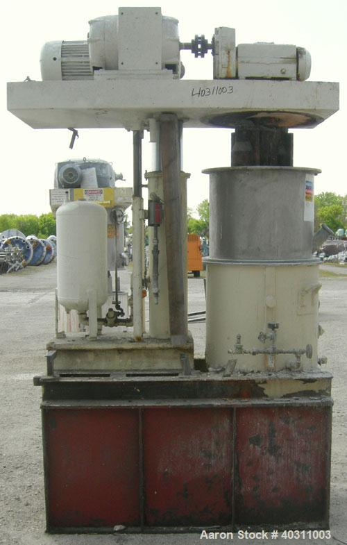 "Used- Ross double planetary mixer, model HDM40, 304 stainless steel. 8-40 gallon working capacity. 25"" diameter x 22"" deep c..."