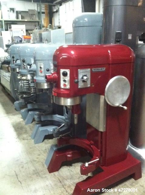 Used- Planetary Mixer, Hobart Model No. H-600. 208/60/3/1 Mixer, Completely reconditioned and painted. (1) Bowl-HL60 60 qt.,...