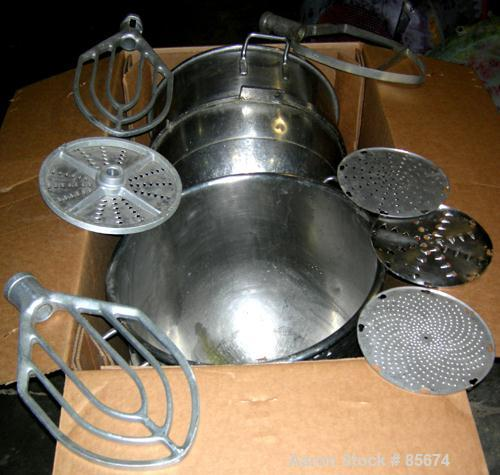 """USED: Hobart Vertical Planetary Mixer, model M-802, 80 quart capacity. 4 speed adjustable with timer. Includes (2) 20"""" diame..."""