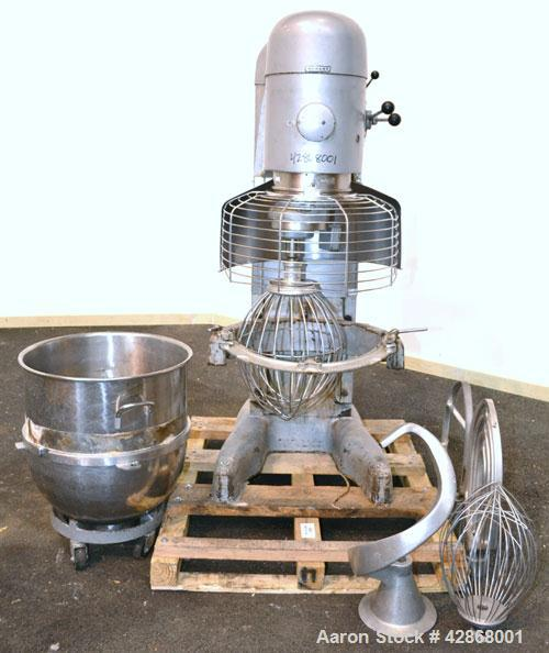 Used- Hobart All Purpose Mixer, Model V1401, 140 Quart Capacity. (4) Fixed speeds with timer, approximate agitator rpm 46, 8...