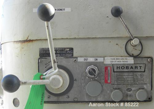 "USED: Hobart mixer, 140 quart, model V1401. (4) Bowl speeds, approximate 17"" rise, driven by a 5 hp, 3/60/208 volt, 1725 rpm..."