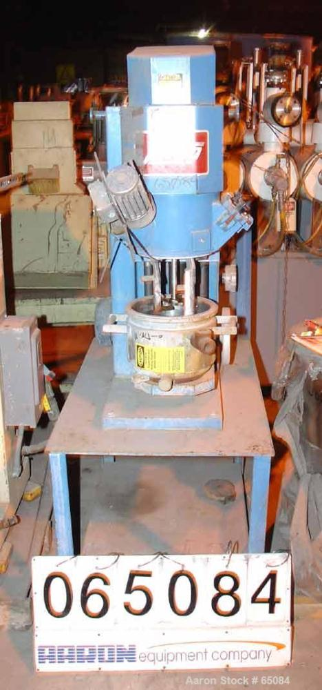 Used- Stainless Steel Jaygo Double Planetary Kneader Mixer, Model MPVD-10