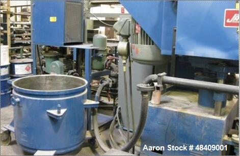 "Used- Jaygo Planetary Mixer, Model MPVD-500. 500 Liter capacity. 100 gallon mix can, approximately 35"" diameter x 31"" deep. ..."