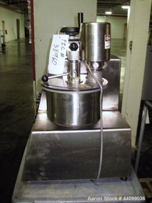 Used- Key High Shear Granulating Mixer, Model KG5, Stainless Steel. (3) Bowls, top mounted chopper, on base. Serial# J1-2902.