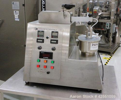Used- Key International High Shear Granulating Mixer, Model KG-5, Stainless Steel. 5 Liter, 1 liter standard bowls, 3 liter ...
