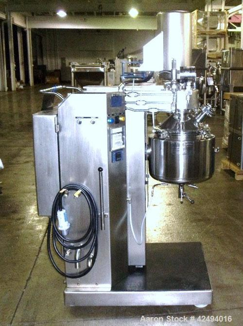 Used- Kreiger Triple Shaft Vacuum Mixer, Model Molto Mat MMU-20, Stainless Steel. 23 Liter total capacity, 20 liter working ...