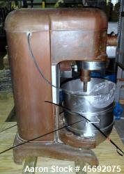 Used- Hobart Mixer, Model L800. 80 Quart capacity stainless steel bowl. Driven by a 1-1/2hp, 3/60/220 volt. Serial# 1125658.