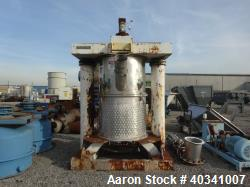 Used- Stainless Steel Scott Turbon Double Planetary Mixer, Model 220GALDPM, appr