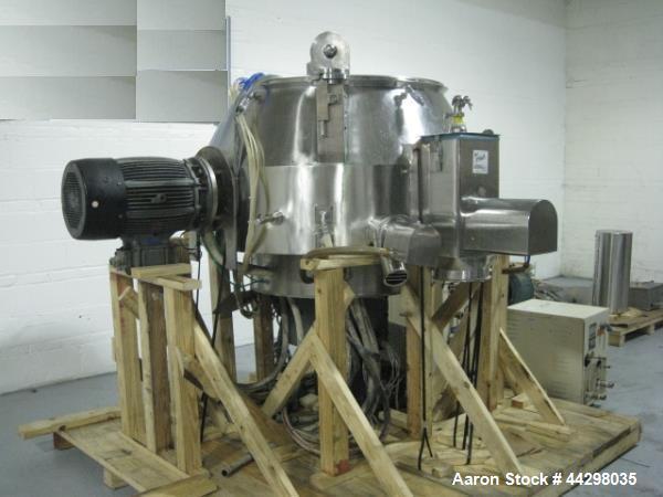 Used- Niro Fielder High Shear Granulating Mixer, Model PMA-1200, 316 stainless steel construction, 50 kw DC main impeller, 0...